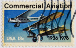 50th anniversary of commercial aviation stamp.