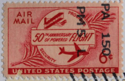 50th anniversary of powered flight stamp.