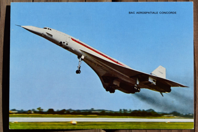 A classic Concorde postcard is quite the find!